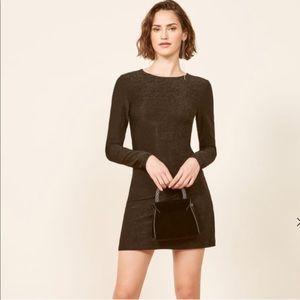 REFORMATION Radford Shimmer Long Sleeve Dress